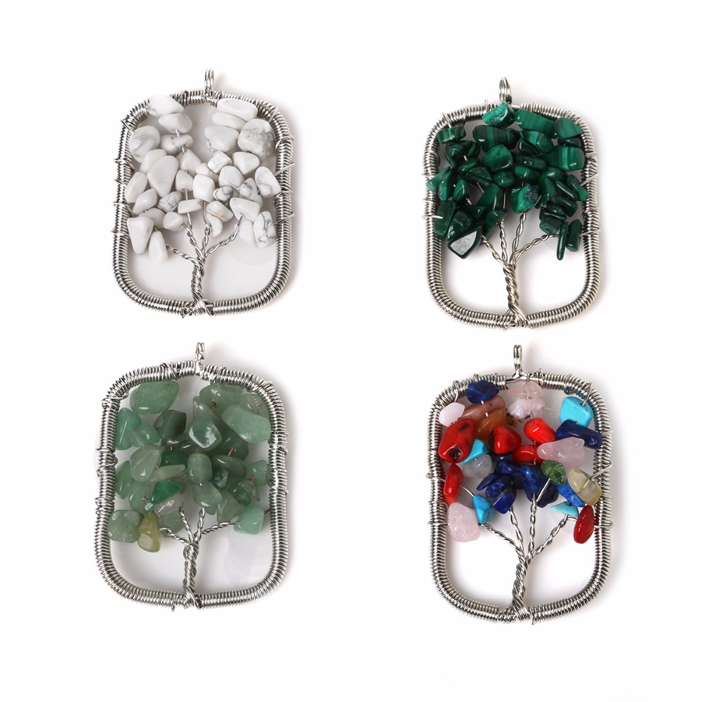 Hot SALE Stones metal charms Health Amulet Healing 3D Symbols Stone Charms Pendant Fit for DIY fashion Necklace rectangle(China (Mainland))