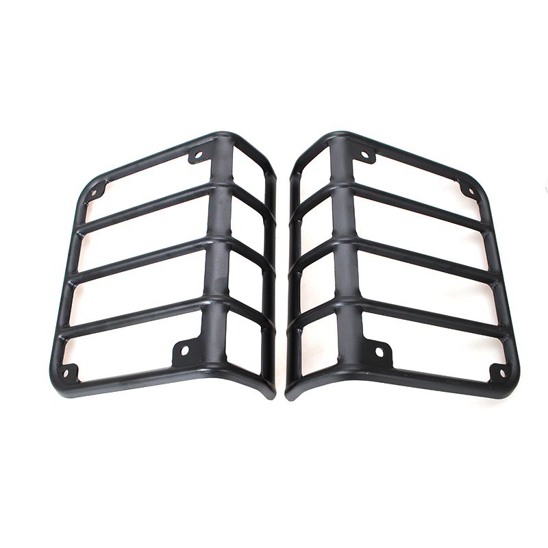 Free Shipping Black Metal 2PCS Car Rear Tail Euro Light Lamp Guard Cover Fit For Jeep Wrangler JK 2007-2015(China (Mainland))