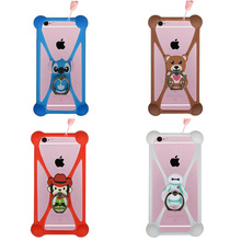 Fashion ZTE V7 Max 3D Ring Stand Holder Soft TPU Rubber Cell Phone Case, Silicone Cover Capa - Heimi store