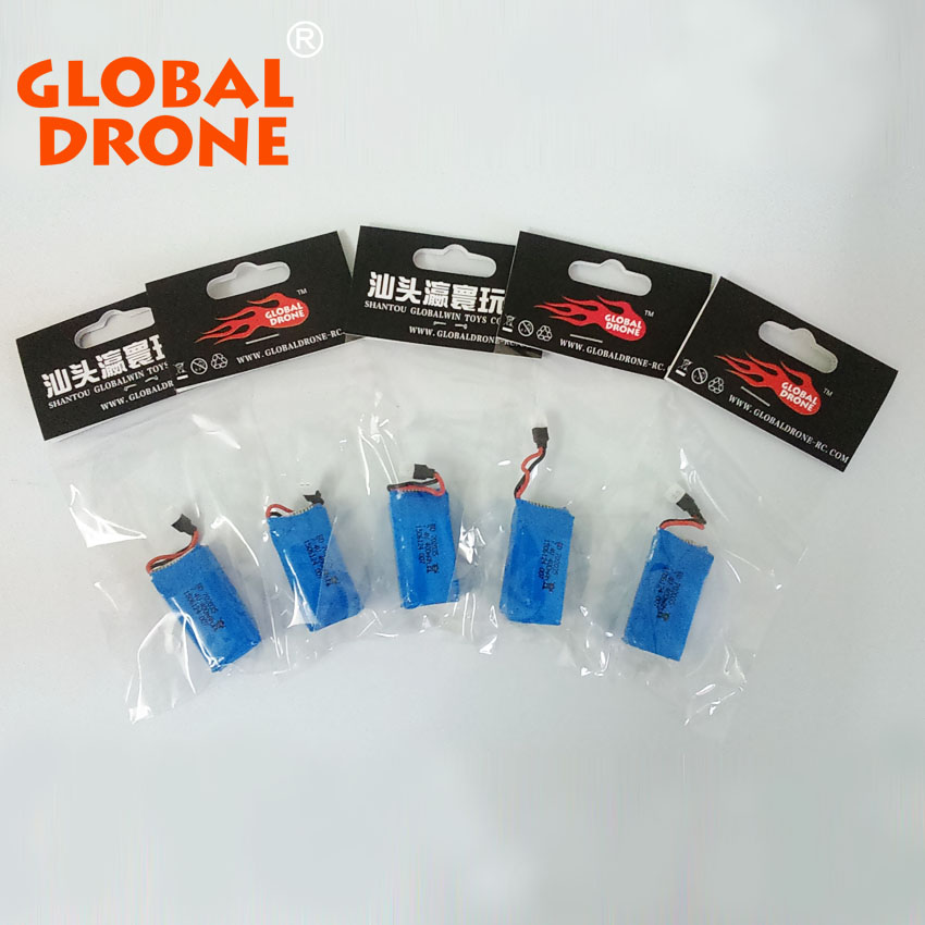 5pcs/lot Global Drone GW007-1 battery 7.4v 400mah lipo battery quadcopter helicoptero rc helicopter spare parts drone accessary