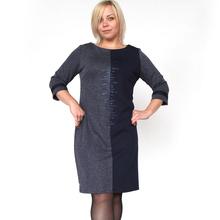 2015 новинка женские осенью зимой платья свободного покроя шить офисное платье три четверти рукава Большой размер платья 7 - 3560(China (Mainland))