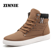 ZIMNIE 2016 Hot Men Shoes Fashion Warm Fur Winter Men Boots Autumn Leather Footwear For Man New High Top Canvas Casual Shoes Men(China (Mainland))