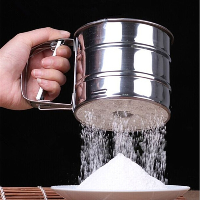 High Quality Sieve Cup Screen Mesh Powder Flour Sieve Baking Tools Stainless Steel Bakeware Baking&Pastry Cake Decorating Tools(China (Mainland))