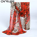 CN RUBR Fashion Chiffon Print Sunscreen Women Scarves Long Section Women Wrap Gifts Women 4 Colors