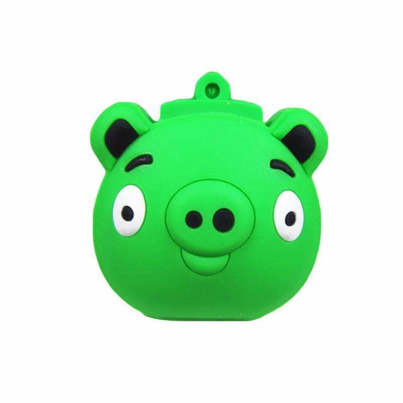 wholesale! cute Green Pig pen drive Birds series usb flash drive 4GB 8GB 16GB 32GB cartoon animal memory stick usb 2.0 u dick(China (Mainland))