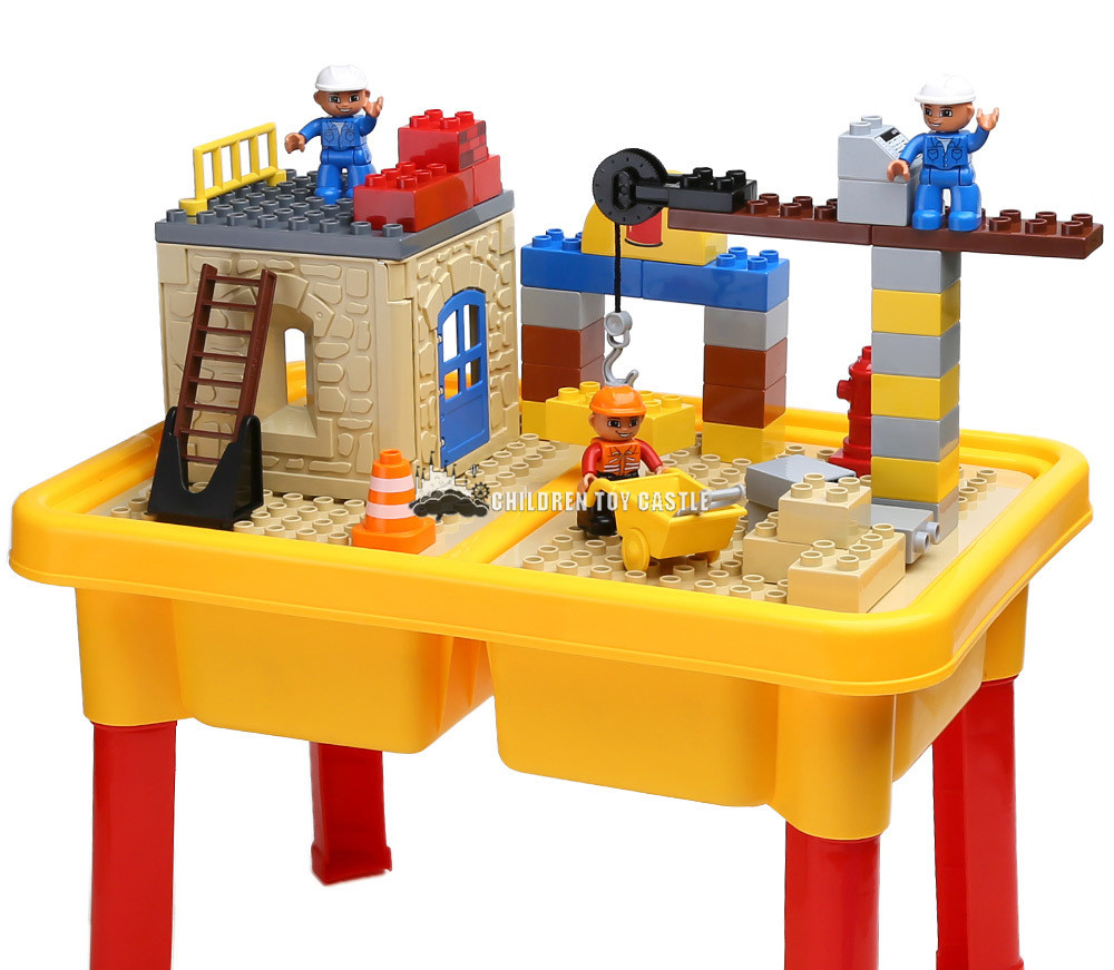 building block table series assembled large particle building blocks children's educational toys storage Compatible With legoe(China (Mainland))