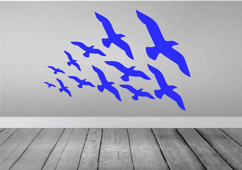 Flock Of Flying Birds Animal Wall Art Sticker Decal Home DIY Decoration Decor Wall Mural Removable Bedroom Decal Sticker 57x82cm()