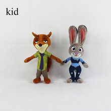33cm new Movie Zootopia Cartoon Utopia plush nick wilde  Movie  Mini Models Nick Fox Judy Rabbit kids toy hot sale(China (Mainland))