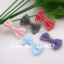 Lots Colors 200pcs U Pick Tartan plaid Ribbon Bows flower Appliques craft A074