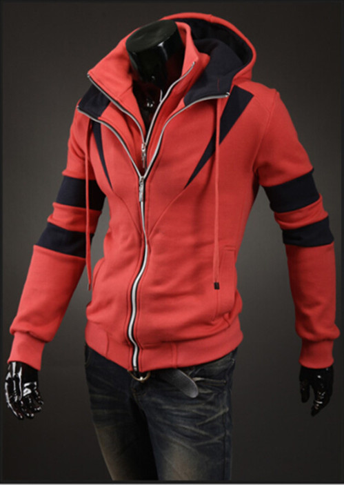 2015 Wholesale Masculinos Cashmere Coat British Style Trench With Cap Slim Style Solid Color Casual Trench Mens Coat Size M~XXXL(China (Mainland))