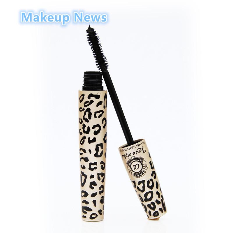 2pcs/lot Love Alpha 3d FIBER LASHES Mascara rimel makeup set maquiagem Wild Leopard waterproof double mascara For Eyelashes(China (Mainland))