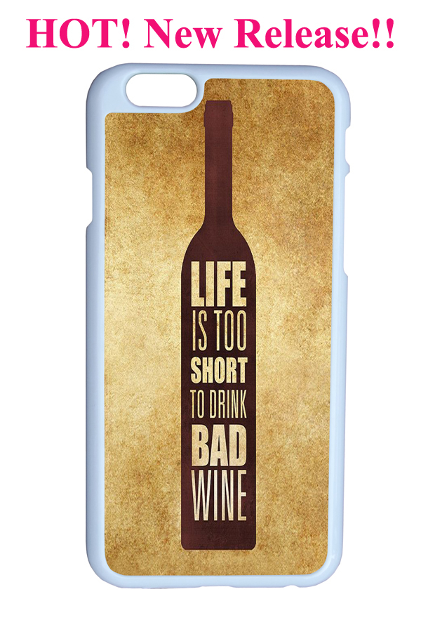 vintage personality love short drink bad wine quote bottle cover protector sleeve case iphone 6 4.7 inches - Guangzhou Sofia phone accessory Co. Ltd store