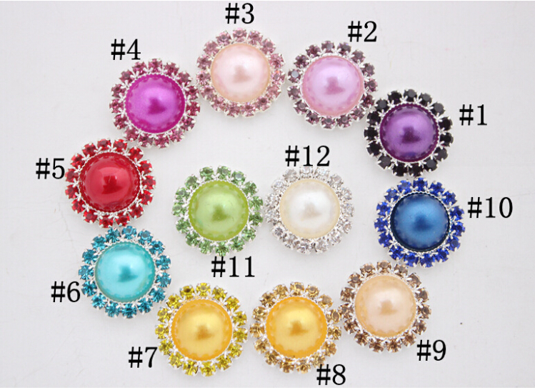 Hair Bow Center Buttons 98