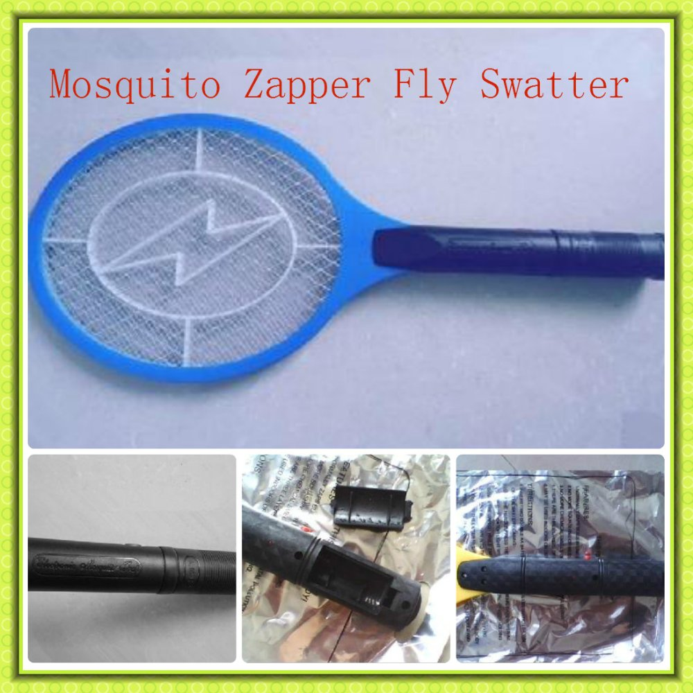 Battery Powered Handheld 3-Layer Net Electric Insect Bug Mosquito Zapper Fly Swatter(China (Mainland))