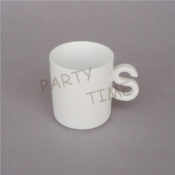 Ceramic coffee mug, letter S cup gift set, 130ml espresso cup(China (Mainland))