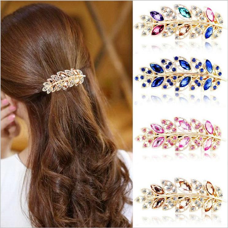 2016 new Hot Women Girls Ponytail Crystal Rhinestone Bow Hair Clip Beauty Hello kitty Hairpin * Barrette Korean Hair Accessories(China (Mainland))