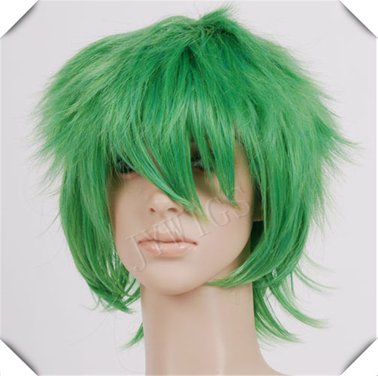 Green Short Synthetic Women BOBO Wig Sexy Costume For Lady Heat Resistant Hair Anime Party Cosplay(China (Mainland))
