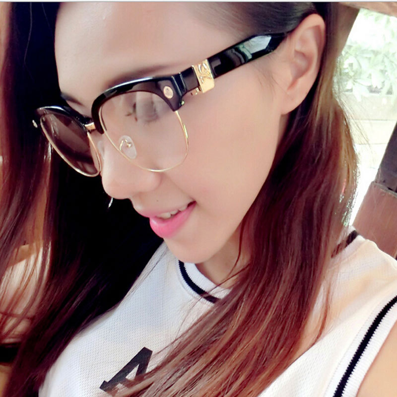 Rimless Hipster Glasses : Aliexpress.com : Buy Hipster Semi Rimless Eyeglass Frames ...