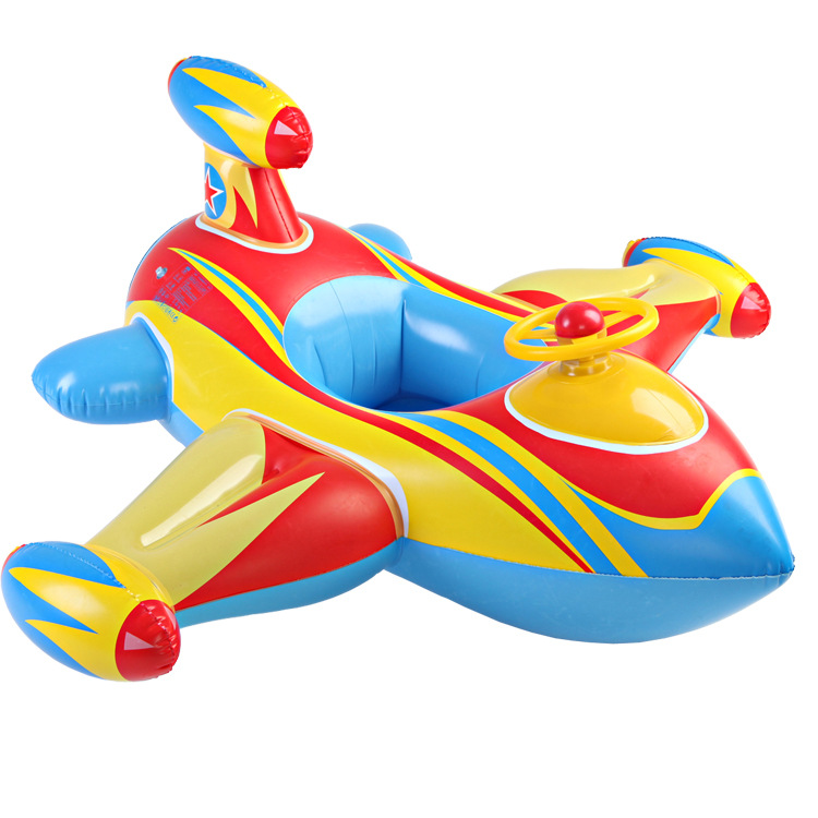 Children swim ring inflatable water supplies thicker steering wheel baby boat floating boat rescue aircraft seat seat part(China (Mainland))