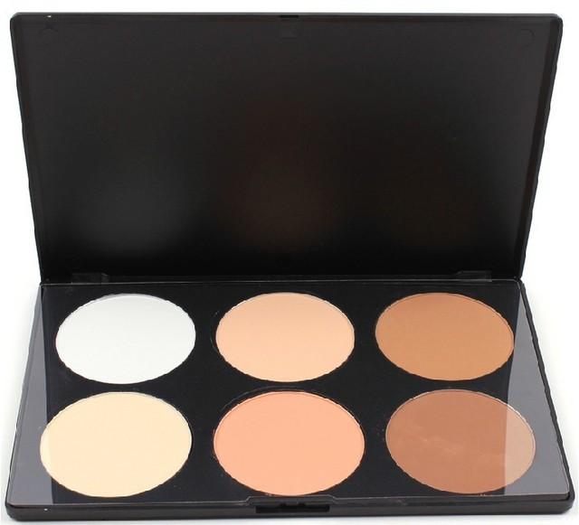 Новый профессиональный! 6 цветов пудра лицо макияж косметика палитра бесплатная доставка