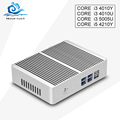 New Mini Computer Desktop Core i3 4010U 5005 U 4010Y Core i5 4210Y Fanless Micro pc