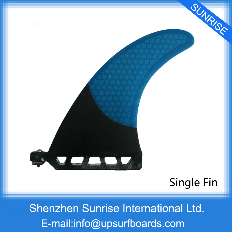 "Blue Surfboard Fin 7""Length Surfboard Center Fins Longboard Single Fins High Sale Fiberglass Fin(China (Mainland))"