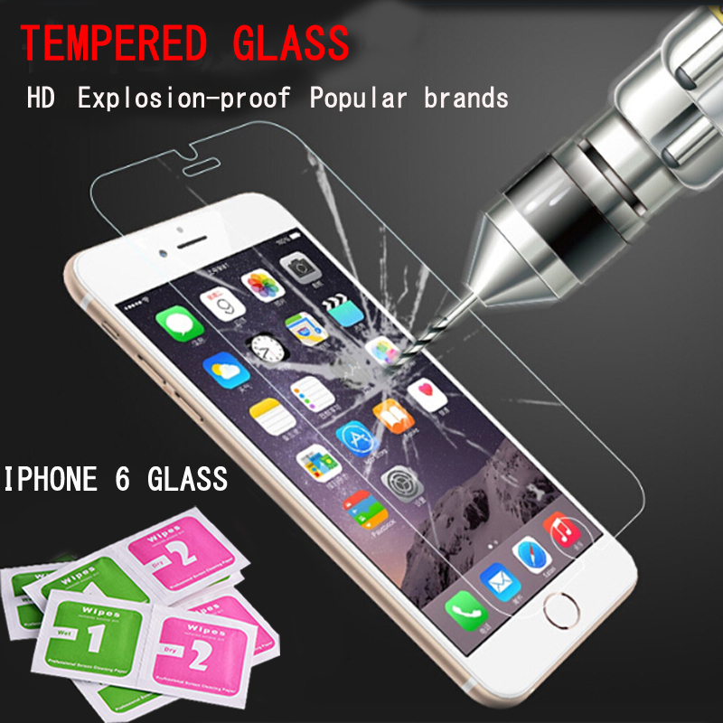 9H 0.26 mm For iphone 6s screen protector film on the iphone4s 5s 6s Screen Protector Glass on the cristal templado for iphone 6(China (Mainland))
