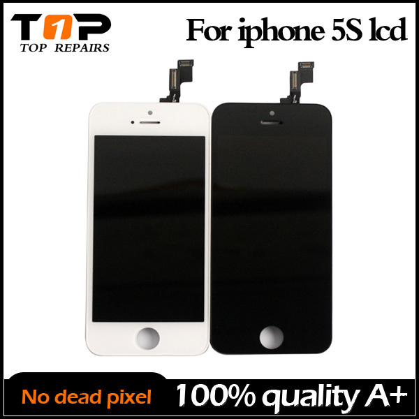 100% quality A++ Black &White Color Replacement LCD Touch Screen Display Glass Assembly for iPhone 5s(China (Mainland))