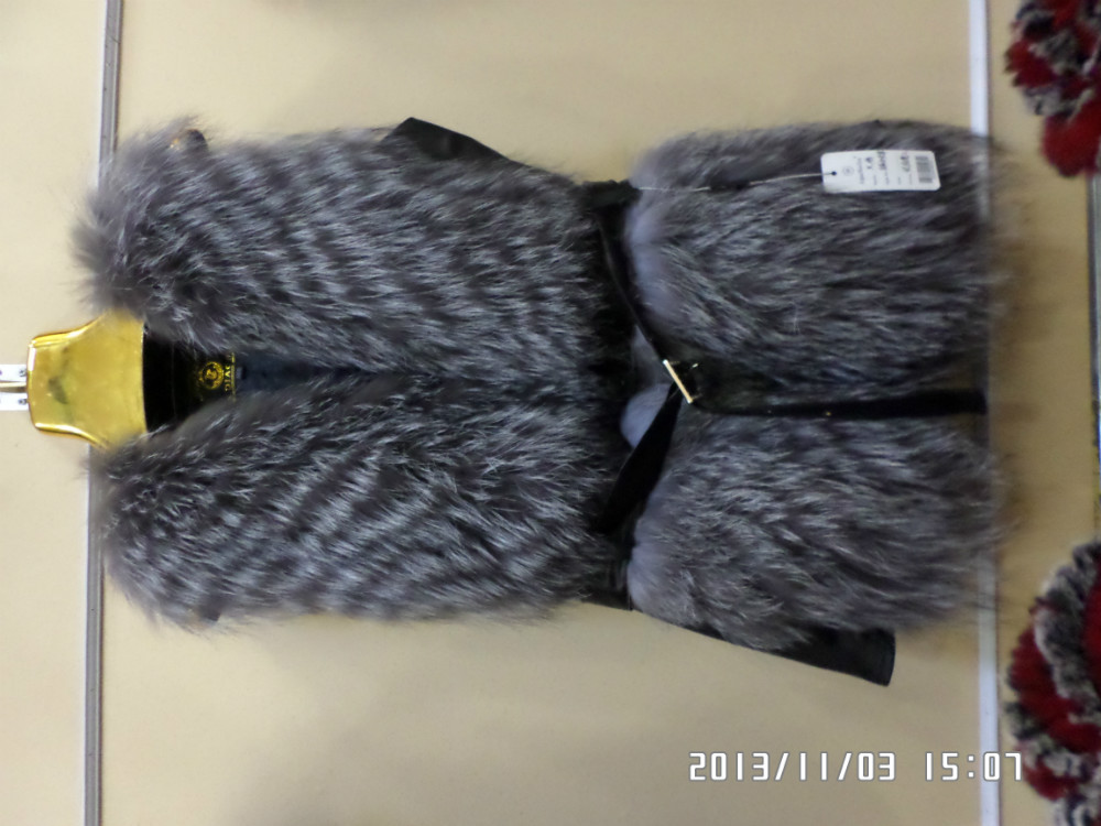 leather coat Europe and the United States really silver fox real fur vestОдежда и ак�е��уары<br><br><br>Aliexpress