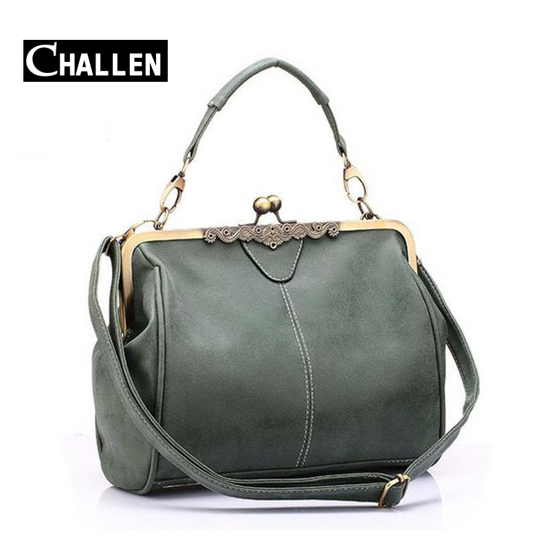 luxury famous brand leather tote bag retro womens messenger bags female green clutch lady shoulder small bag designer handbags(China (Mainland))