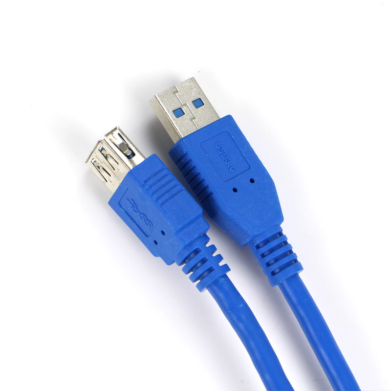 3FT 1M USB 3.0 High Speed Extend Extention Flat Cable A Male to A Female Adapter 100CM For PC Laptop(China (Mainland))