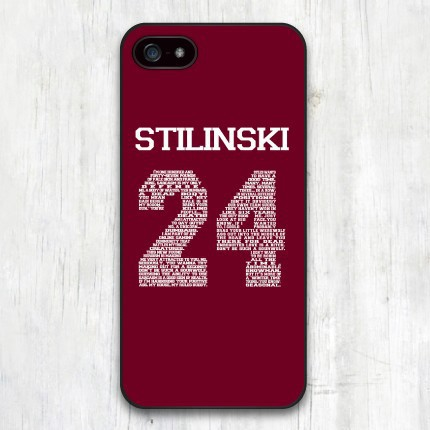 Teen Wolf STILINSKI 24 Words Plastic Hard Cover Case for iphone 4 4s 5 5s 5c