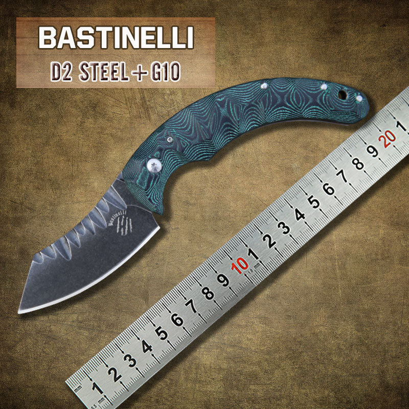 Bastinelli knife D2 steel blade with G10 handle Folding Knife camp Tactical hunt outdoor survival utility pocket Knives EDC tool(China (Mainland))
