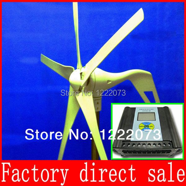 Hybrid Solar Wind Power Generator ; Wind Power Generato12/24V Option,Combined With Wind/Solar Hybrid Controller(LCD Display)(China (Mainland))
