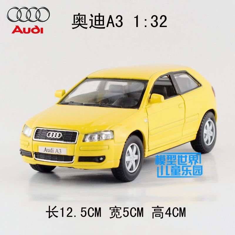 Wholesale 10pcs/pack Brand New 1/32 Scale KINGSMART Pull Back Car Toys Audi A3 Diecast Metal Car Model Toy(China (Mainland))