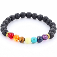 Buy Muti-color Mens Bracelets Black Lava 7 Chakra Healing Balance Beads Bracelet Women Reiki Prayer Yoga Bracelet Stones for $1.22 in AliExpress store