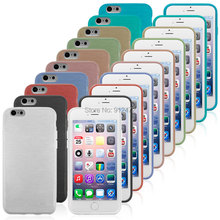 100PCS/lot Mobile phone back cover tpu gel brushed case for iPhone 6