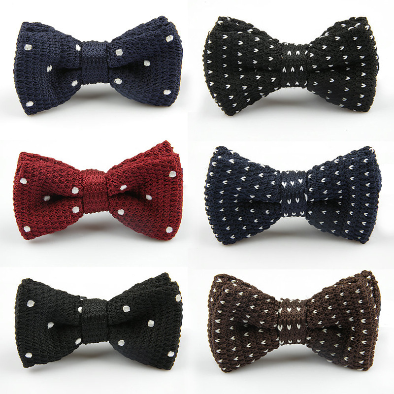 2014 New Men s Double deck Knitted Bow Tie Male Wedding Bowties Many Styles Pattern Butterfly