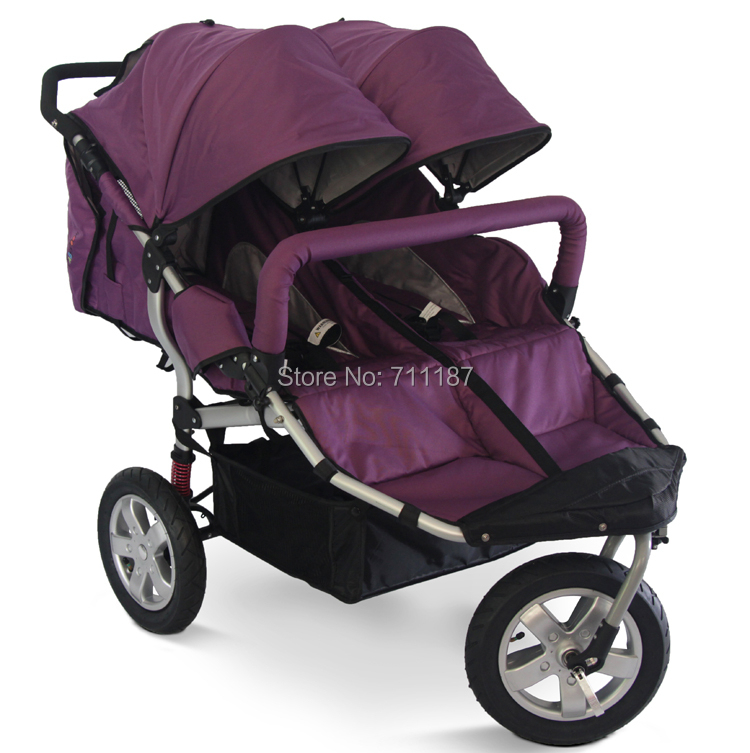 Baby carriage, Big wheel shocking-proof twins baby stroller double stroller twins cart comfortable for twins<br><br>Aliexpress