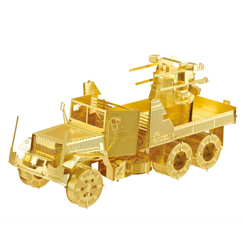 NANYUAN M35 anti-aircraft Truck Model DIY Jigsaw 3D Metal Puzzle Laser Cutting Assembly Toy Childen Educational Toys I22212(China (Mainland))