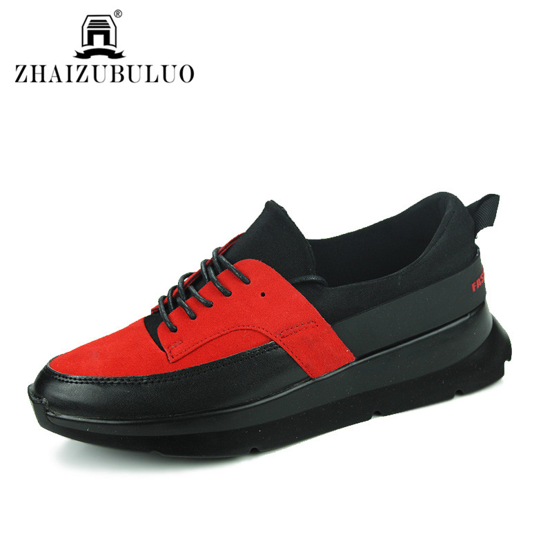 Men Suede Leather Casual Shoes Breathable Height Increasing Flats Shoes Spring Autumn Men Walking Shoes Zapatillas Deportivas