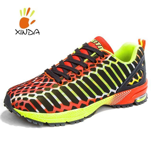 Новый высокое качество флуоресценции женщины мужской обуви свободного покроя Fly ...