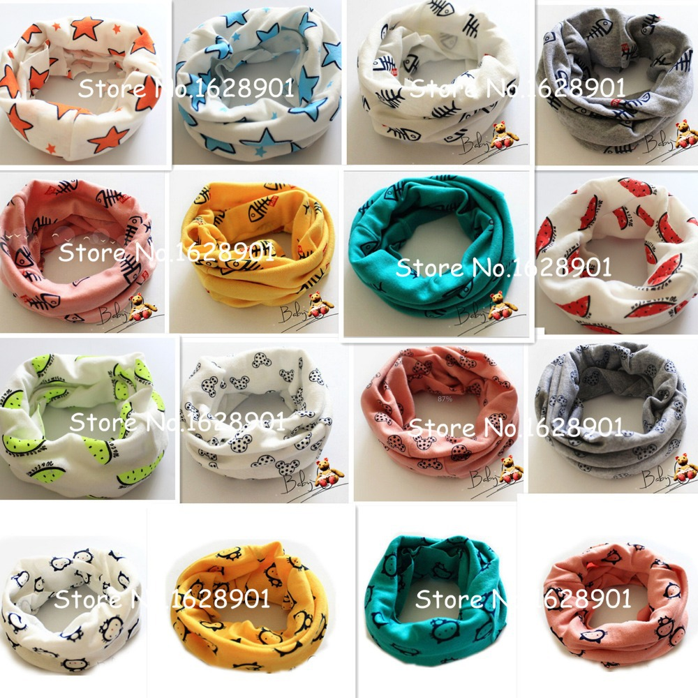 Free shipping 2015 New Autumn Winter Baby scarf Chirldren 100% cotton collar Boys and girls Kids O ring child neck Scarves(China (Mainland))