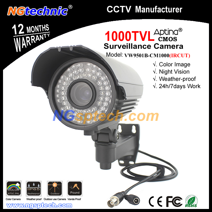 Home security system 1000TVL HD varifocal CCTV Camera ircut filter 72pcs ir led day night vision waterproof surveillance camera(China (Mainland))