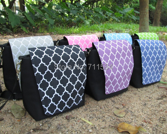 Free Shipping by FedEx blanks Quatrefoil Camera Crossbody Bag With Padded Material For The Main Body DOM027(China (Mainland))
