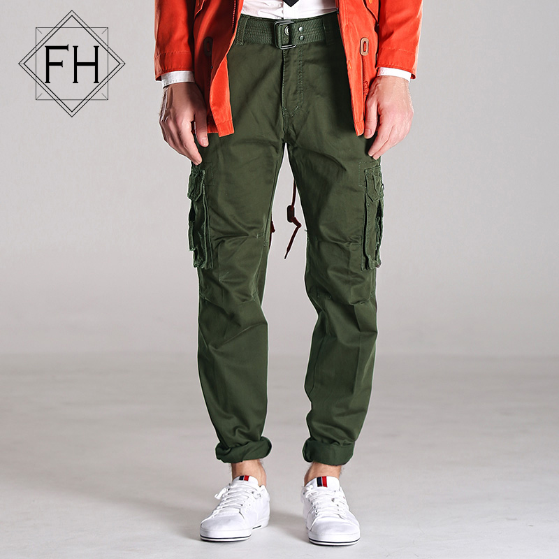 FUHAO Fashion Cargo Pants Men Gray Pure Cotton Multi-pocket Trousers Men Outdoor Leisure Heavyweight Sports Pants For Men,275Одежда и ак�е��уары<br><br><br>Aliexpress