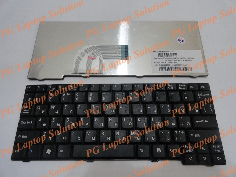 product Russian Keyboard for Acer Aspire One ZG5 D150 D210 D250 A110 A110X A150 A150L ZA8 ZG8 KAV10 KAV 60 Emachines EM250 RU Black