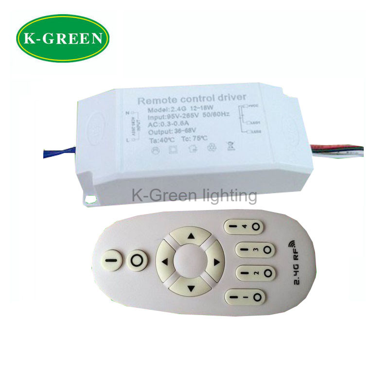 1X Hight quality AC95-265V 12-18W 2.4G constant current wireless dimmable led driver with remote remote controller free shipping(China (Mainland))