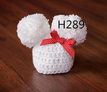 Newborn Baby Hospital Hat, white color Classic Bonnet for Photo Prop(China (Mainland))