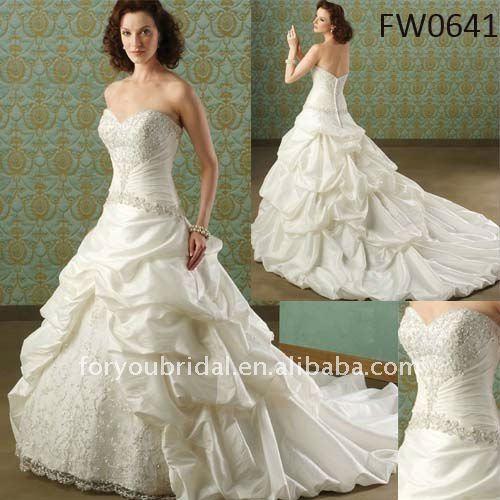 Fw0641free доставка на заказ горячая распродажа рукавов свадебное платье кружева установлены